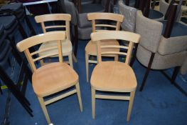 *Four Espresso Natural Side Chair
