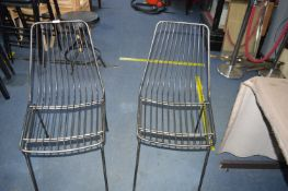 *Pair of Steel Wire Side Chairs