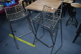 *Pair of Steel Wire Hight Stools