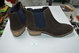 Ladies Size: 5 Brown Suede Ankle Boots