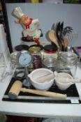 Kitchen Storage Jars, Pestle & Mortars, Utensils,