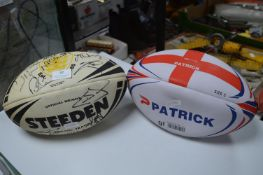 Two Ruby Balls; One Hull FC Steeden,