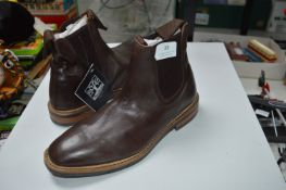 Woodland Size: 6 Brown Leather Ankle Boots