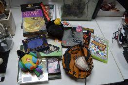 Xbox Games, Baseball Glove & Ball, Books, Card Gam