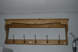 Pine Wall Shelf Coat Rack