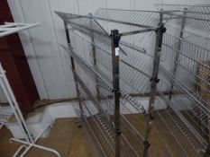 * chrome double sided 5 tier shoe racks 1050w x500d x 1550h