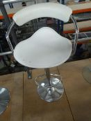* beauticians counter stool - chrome with cream seat. Adjustable gas lift seat (600 - 800h).