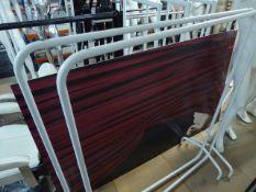 * 2 x white freestanding hanging rails 1300w x 550d x 1500h