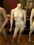 * female mannequin with glass base