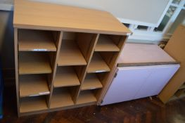 *Cubby Hole Storage Unit and a Painted Cupboard