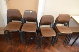 *Seventeen Metal Framed Plastic Primary School Chairs