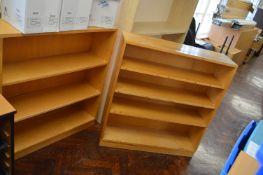 *Two Wooden Bookshelves