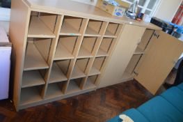 *Two Piece Storage Unit with Cupboard and Cubby Holes