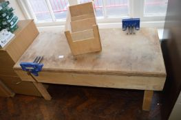 *Primary School Size Workbench with Two Record Vices and a Plywood Storage Unit