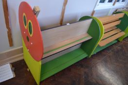*Double Sided Painted Children's Wooden Book Rack