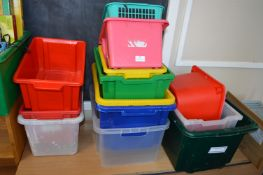 *Quantity of Plastic Storage Boxes