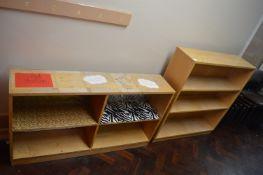*Two Small Wooden Bookshelves