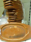 *19 Wooden Serving Platters