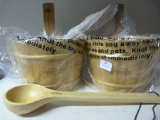 *Pair of Finlandia Sauna Buckets with One Ladle