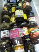 ~21 Jars of Jam, Sauces, Beetroot, etc.