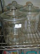 * glass jars with lids x 3