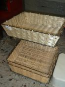 * 3 x wicker baskets on stand