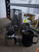 * milk steaming jugs x 5