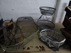 * assorted mesh baskets x 6