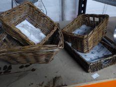 * wicker baskets x 4