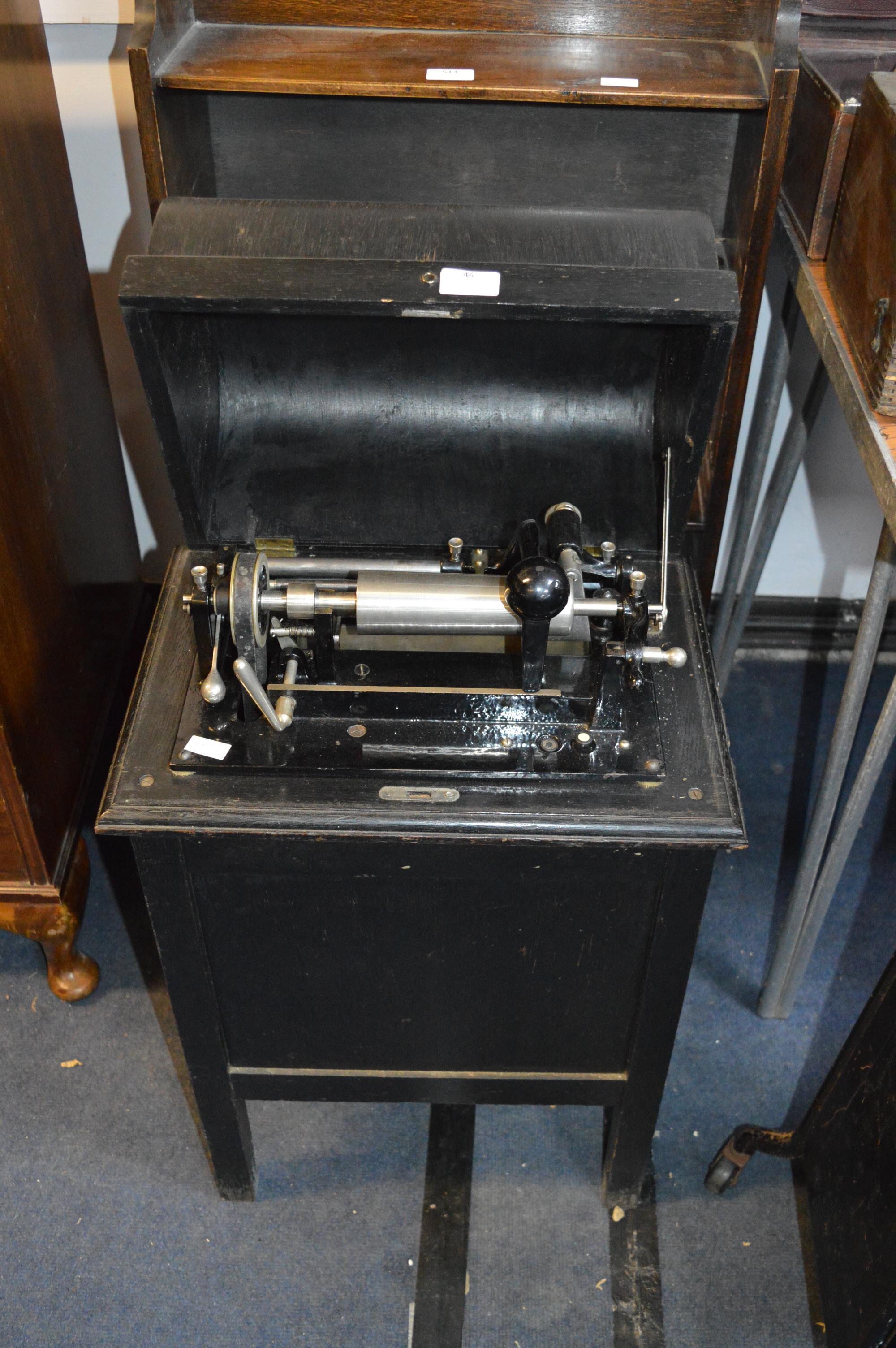 Dictaphone Shaving Machine in Cabinet