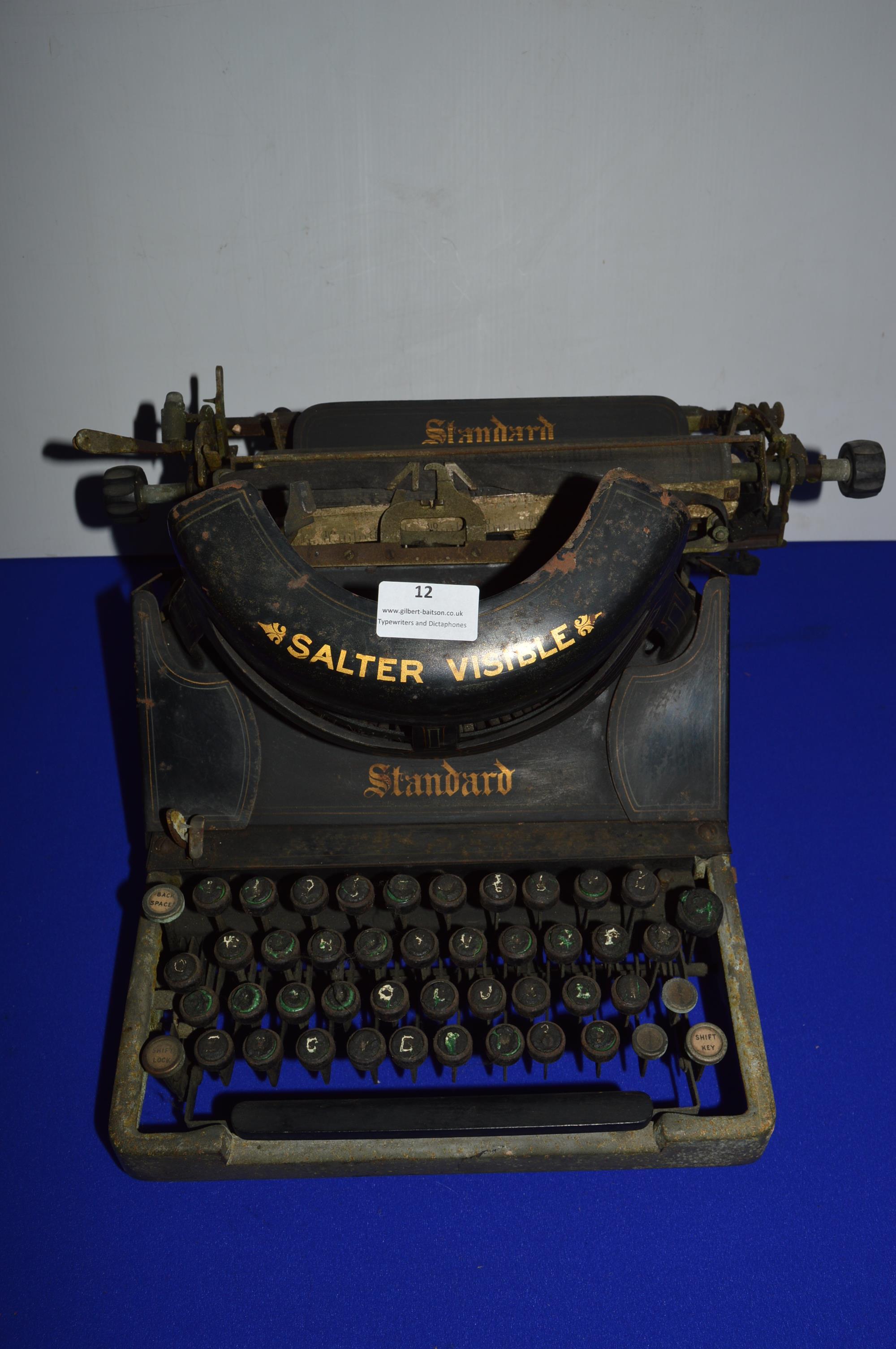 Salter Visible Standard Typewriter (some wear)