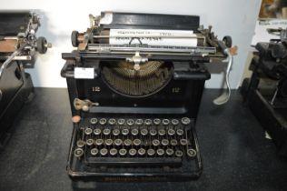 Remington 12 Standard Typewriter circa 1910, New York, USA
