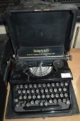 Torpedo Typewriter by Torpedo Werke A.G. Frankfurt with Original Black Carry Case