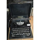 Torpedo Typewriter by Torpedo Werke A.G. Frankfurt with Original Black Carry Case