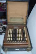 Comptometer Office Calculating Machine Manufactured by Felt & A. Tallant, Chicago