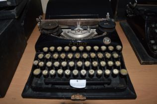Aerika Typewriter by S & N with Original Black Carry Case