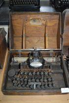 Blickensderfer No.05 Typewriter In Original Wooden Case - Stanford USA