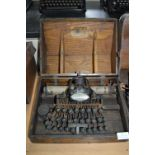 Blickensderfer No.05 Typewriter In Original Wooden Case - Stanford USA