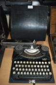 Bijou Typewriter by Duncan & Co, Glasgow in Original Black Carry Case