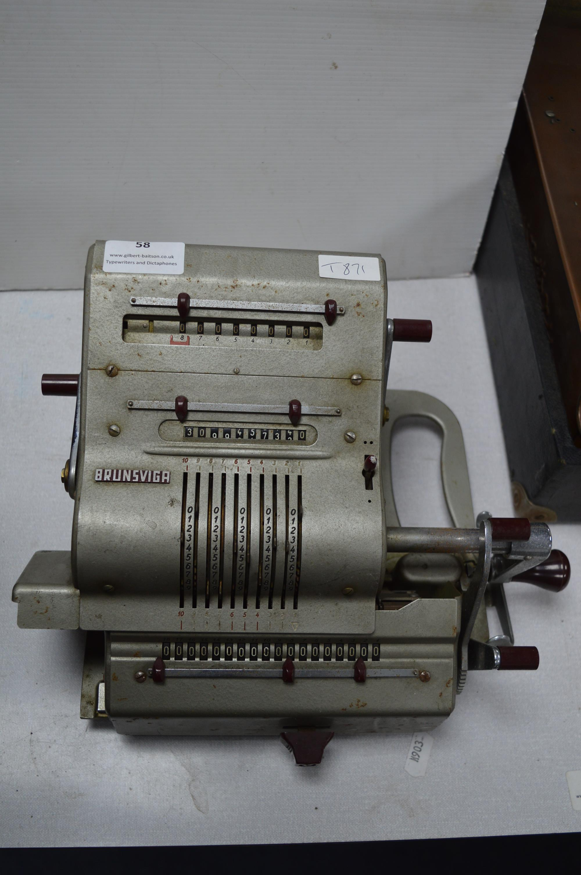 Brunsviga Office Calculating Machine Manufactured by Olympia
