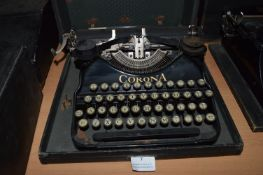 Corona Portable Typewriter with Original Carry Case