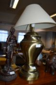 Large Glass Table Lamp and a Figurine Lamp Base