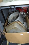 Large Box of Pans, Oven Dishes, etc.
