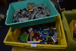 Tub and Tray of Assorted Lego