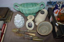 Kitchenware, Vases, Jelly Moulds, etc.