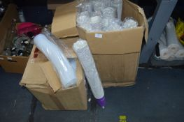 Large Box of Paper Cups and Lids