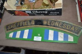 Reproduction Brass Loco Style Sign - Sheffield Wed