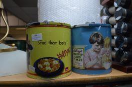 Two Retro Style Kellogg's Cereal Storage Tins