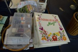 Embroidery Magazines and Patterns plus Thread