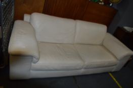 Large Two Seat Leather Sofa